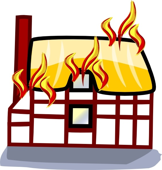 House Fire Insurance clip art Free vector in Open office.