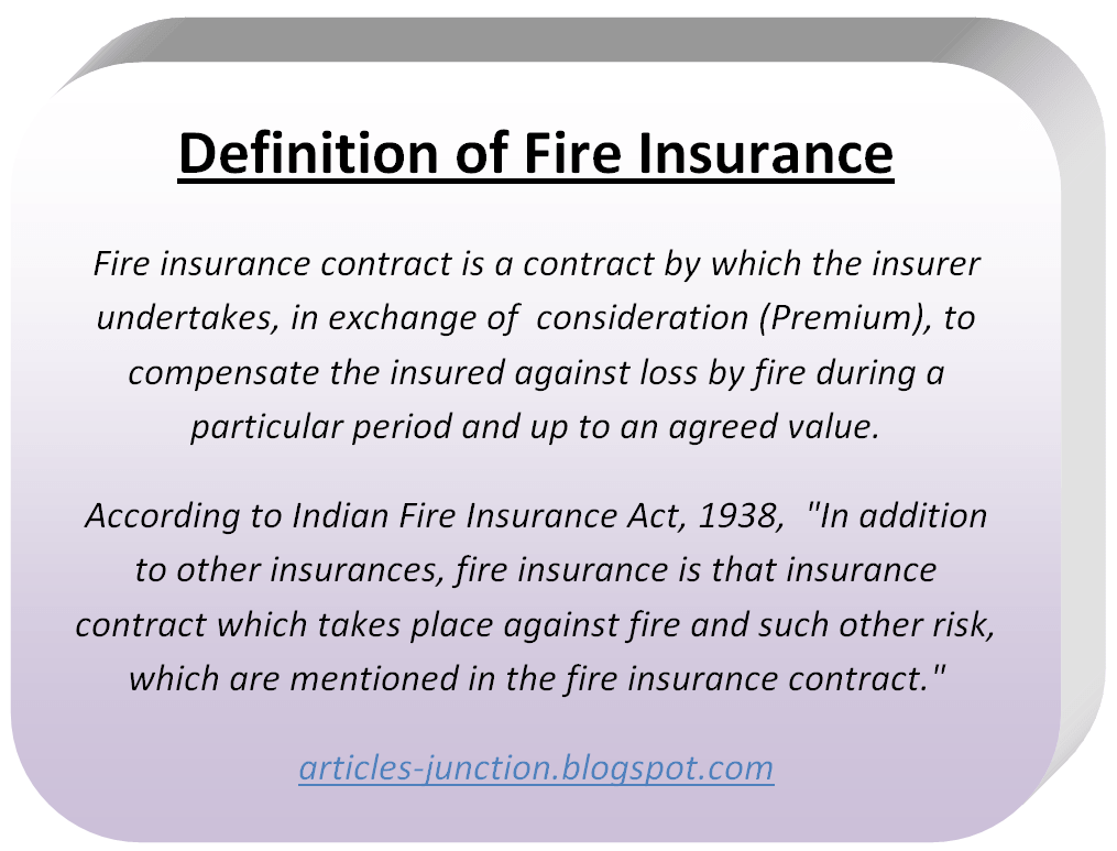 Types of Fire Insurance Polices.