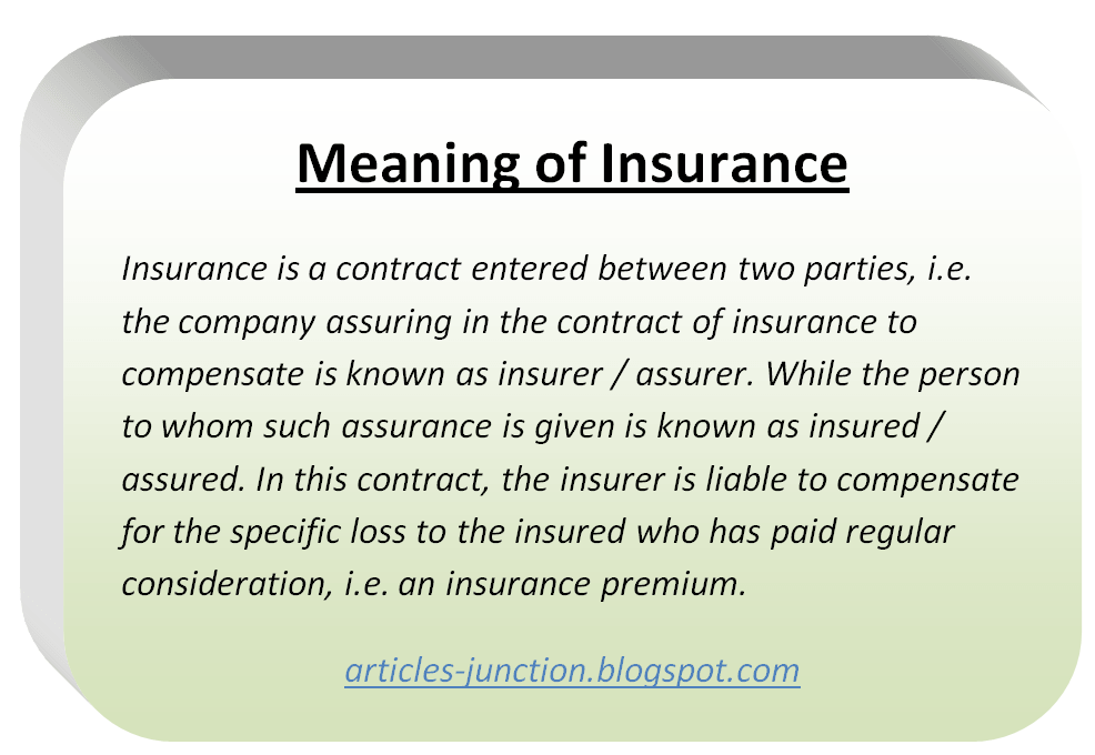 What is Insurance? Meaning, Definition of Insurance.