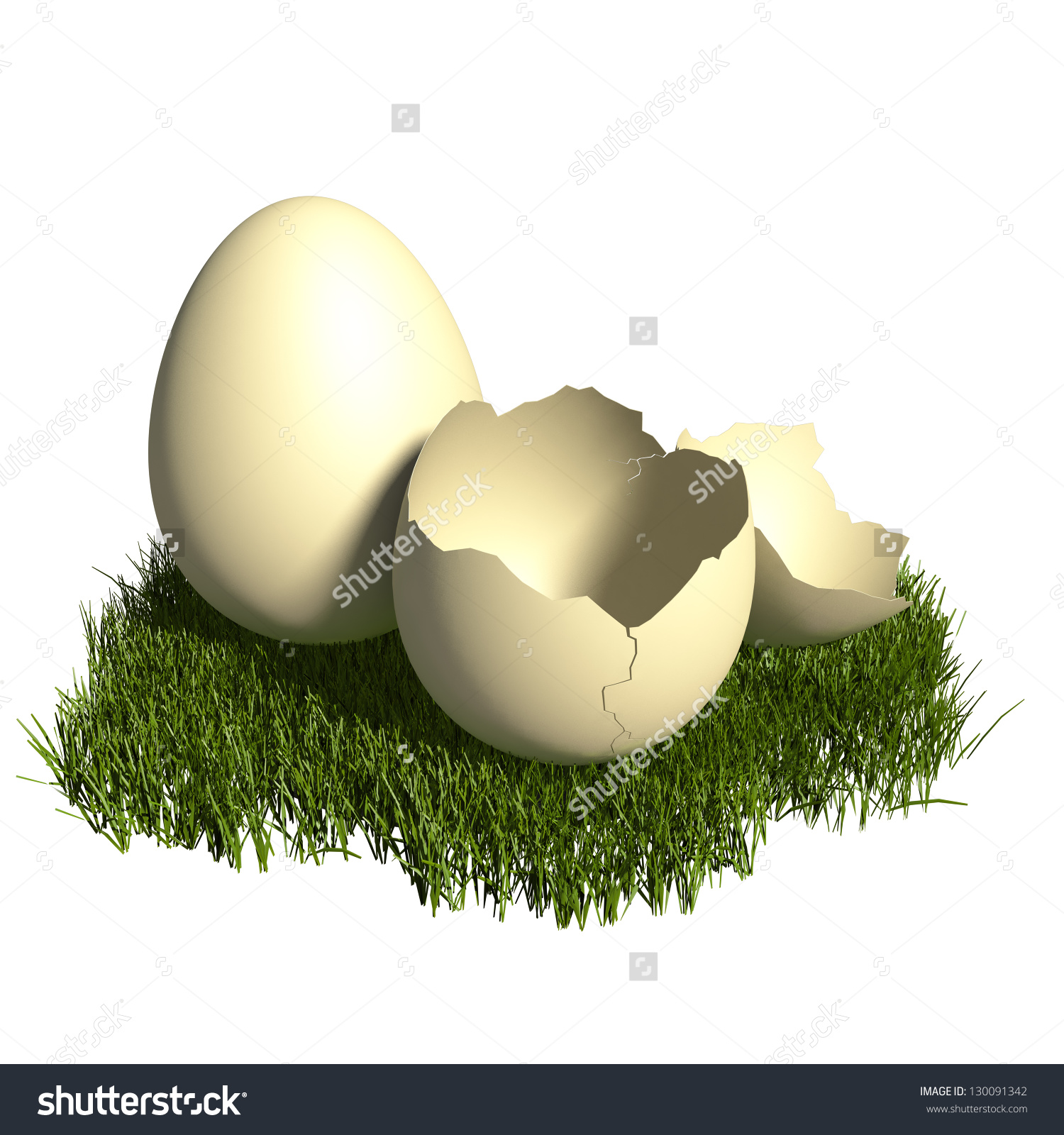 3d Rendered Egg Clipart Illustration.