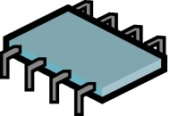 Integrated Circuit Chip Clip Art (SVG & ODG) 90.70 KB.