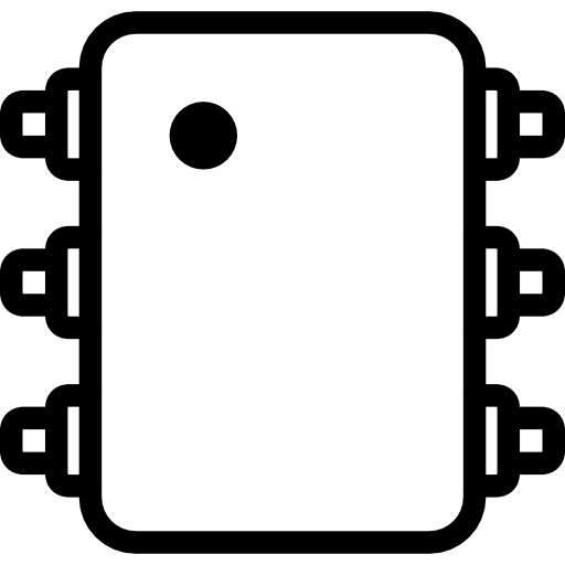 integrated circuit icon.