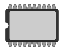 EPROM chip integrated circuit memory IC vector, free vector.