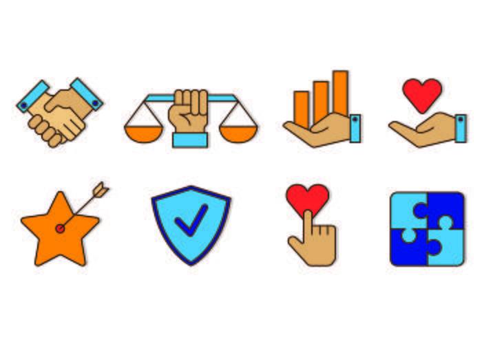 Set Of Integrity Icon.