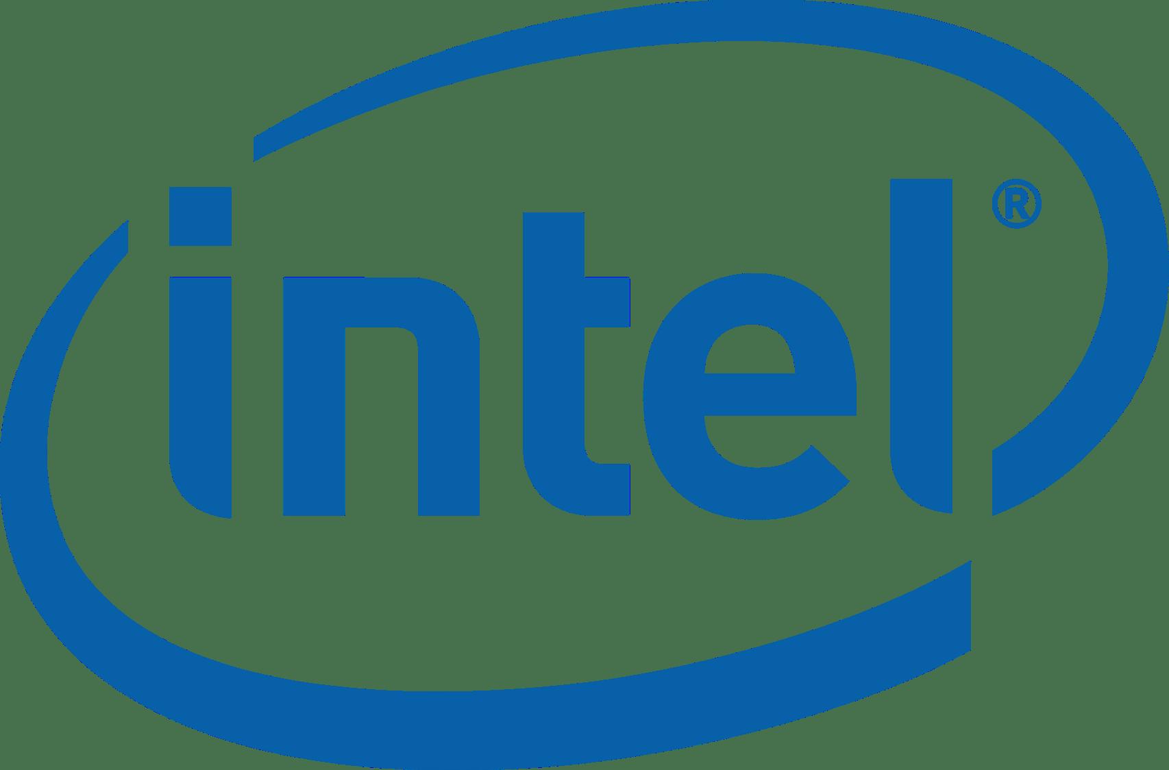 Intel Logo transparent PNG.