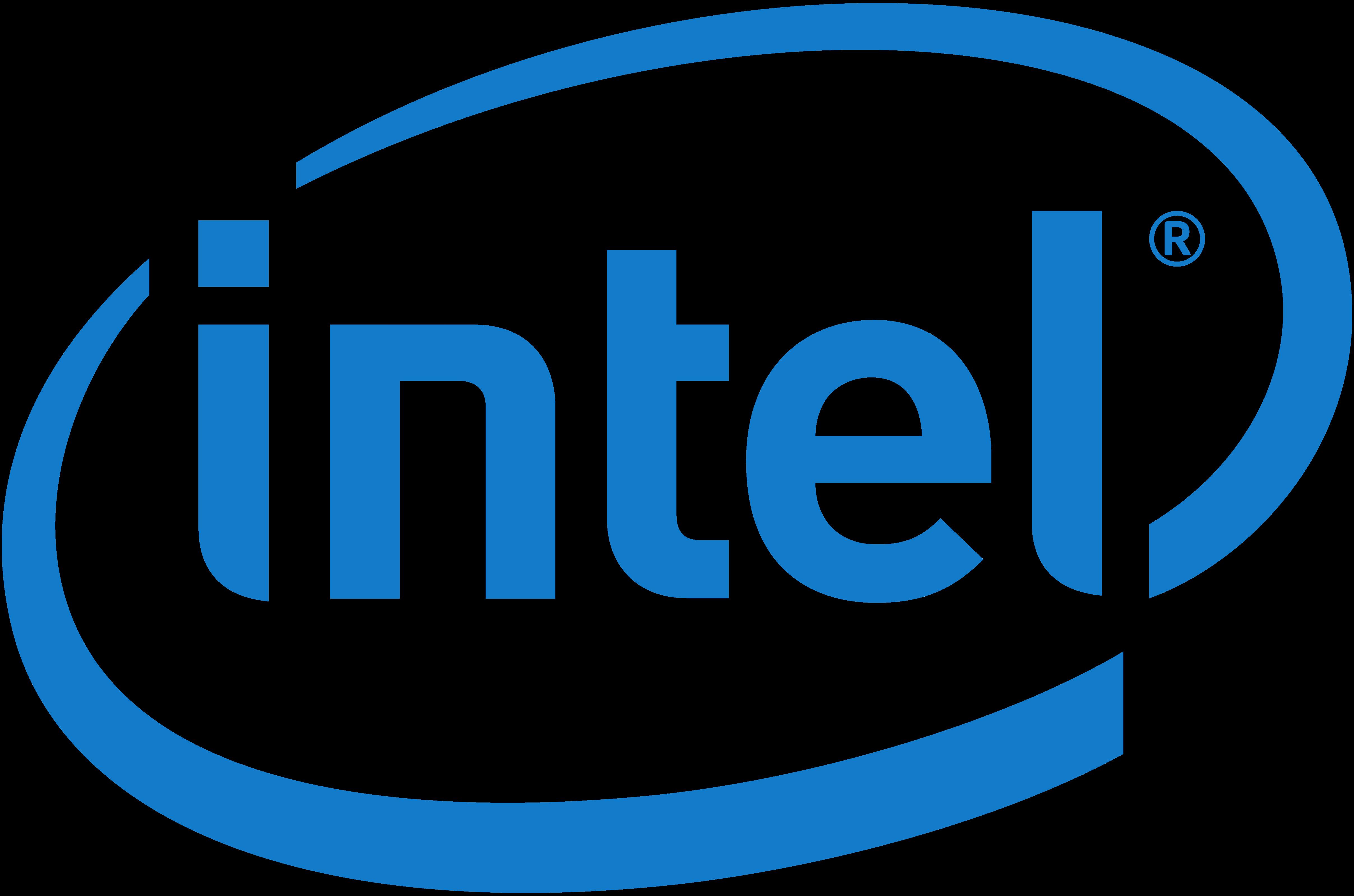 Intel logos PNG images, Intel logo.