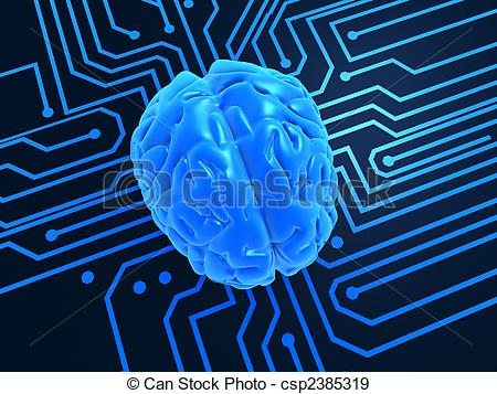 Stock Illustration of artificial intelligence.