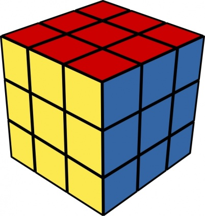 Cube Brain Rubik Game Think Smart Intellect Free Vector.