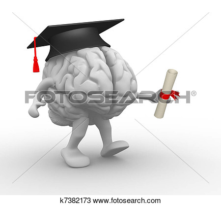 Brain in intellect clipart collection.