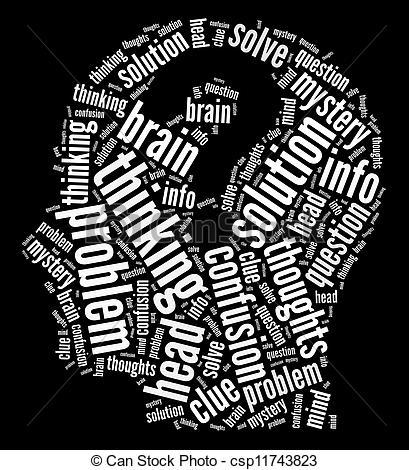 Clip Art of Mind intellectual concept..