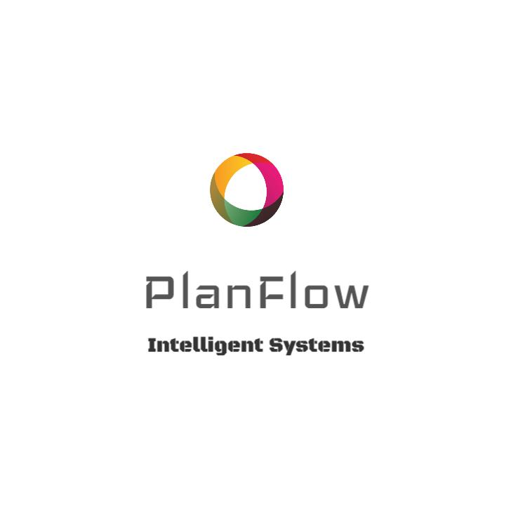 PlanFlow Intelligent Systems Logo Template.