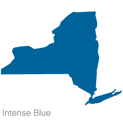 New york shape of state clipart.