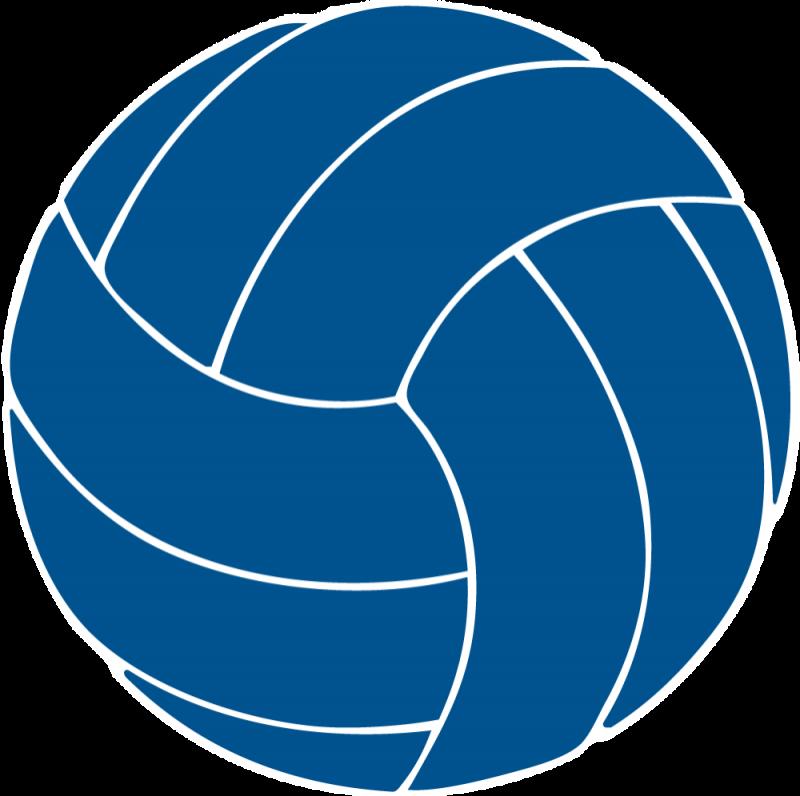 Blue Volleyball Clip Art.
