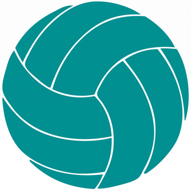 Blue volleyball clipart.