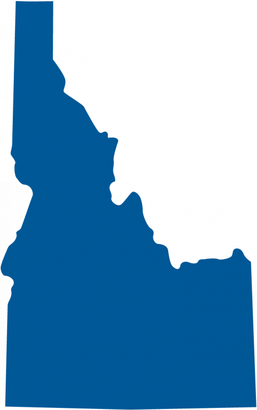 Idaho shape clipart that can be customized for color.