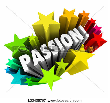 Picture of Passion Word 3d Letters Stars Exciting Feeling Intense.