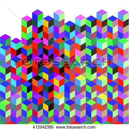 Clipart of Abstract Intense colors k12542395.