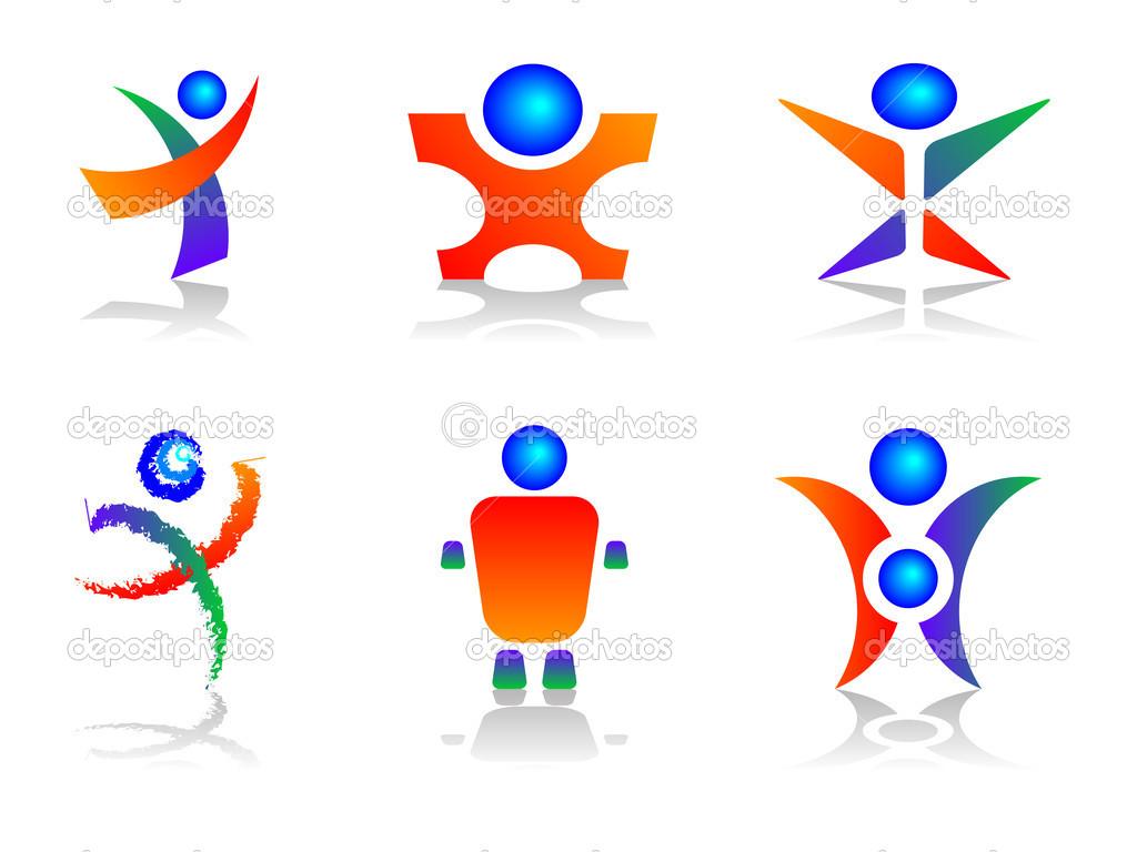 Human Logo Design Elements — Stock Vector © green308 #2327778.