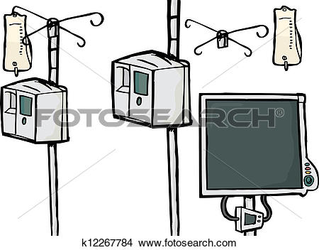 Clipart of Intensive Care Equipment k12267784.