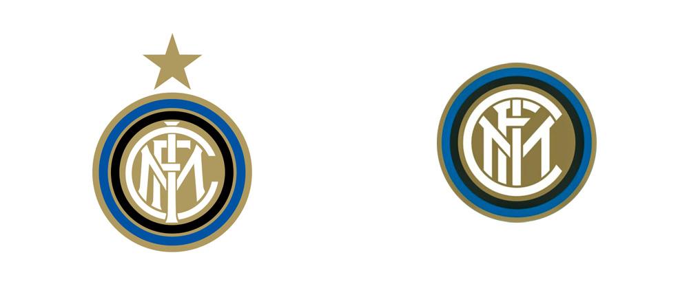 Brand New: New Logo for Football Club Internazionale Milano.