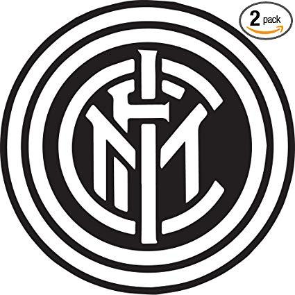Amazon.com: Serie A FC Inter Milan Logo Black N White (Black.