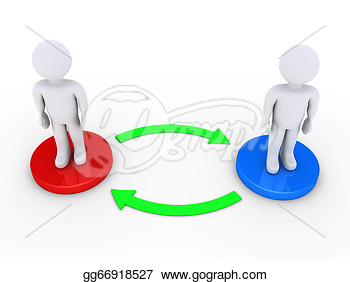 Interacting Community Clipart.