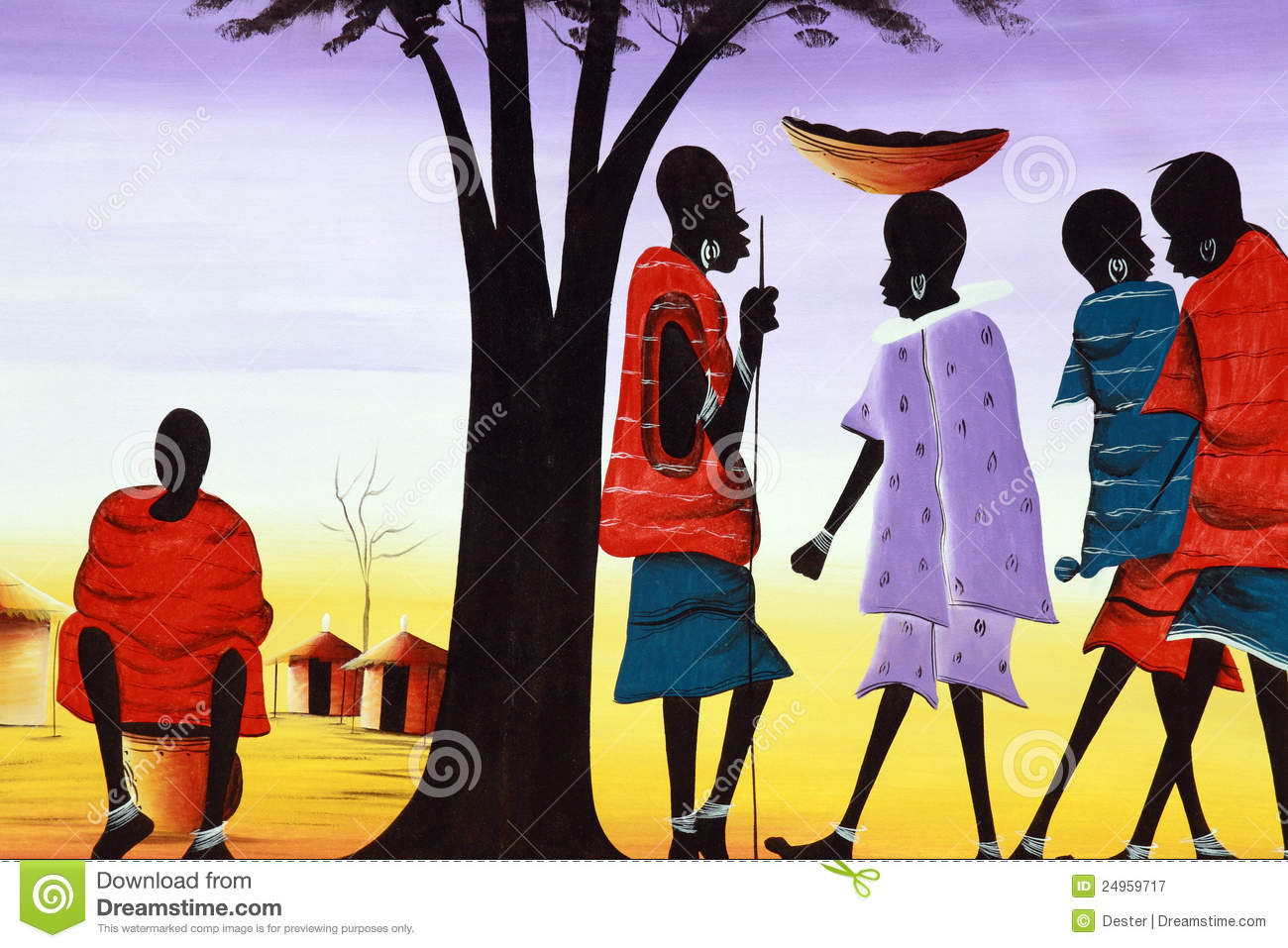 Rural Life In Africa Royalty Free Stock Photography.