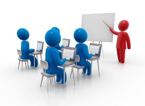 Interactive classroom clipart.