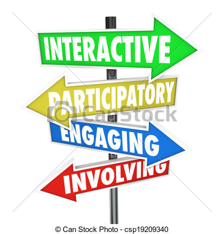 Drawing of Interactive Participatory Engaging Involving Arrow Road.