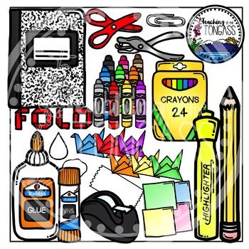 Interactive Notebook School Supplies Clipart (School Clipart.