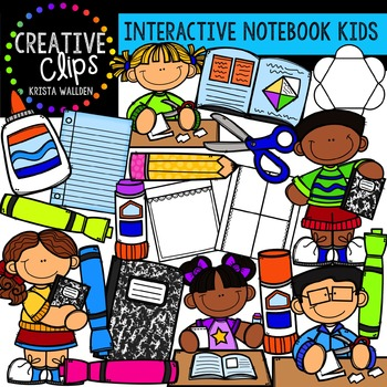 Interactive Notebook Kids {Creative Clips Digital Clipart}.