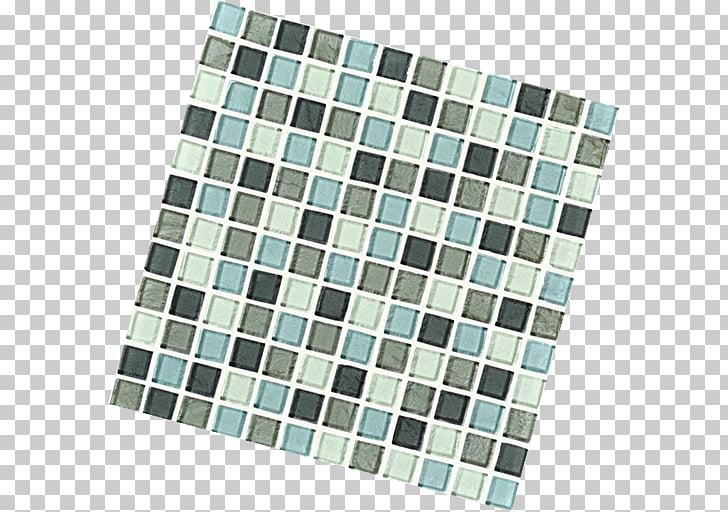 Square meter Flooring Interceramic, Inc., metallic mosaic.