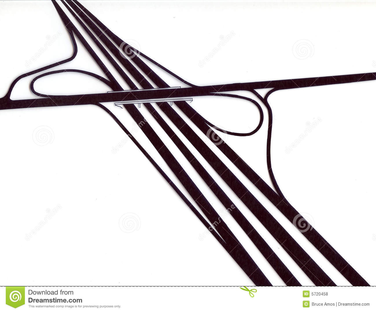 Highway Interchange Design Royalty Free Stock Photos.