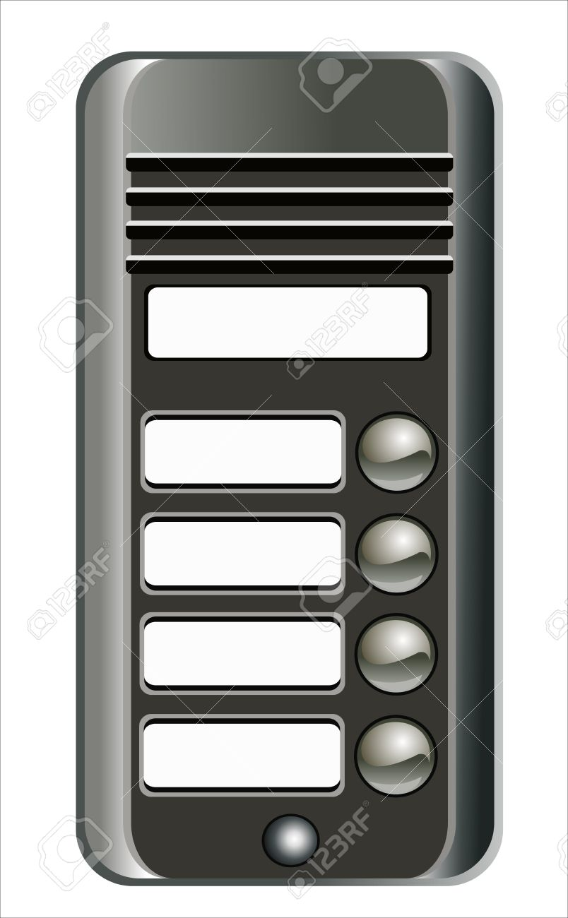 Intercom Doorbell Panel Royalty Free Cliparts, Vectors, And Stock.