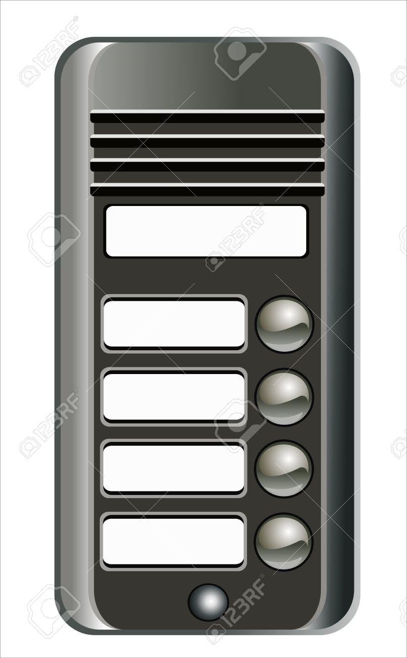 Intercom Doorbell Panel Royalty Free Cliparts, Vectors, And Stock.