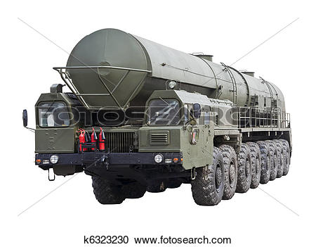 Stock Photography of intercontinental ballistic missile Topol.