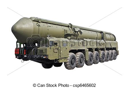Stock Photo of intercontinental ballistic missile Topol.