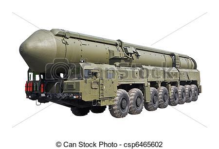 Stock Photo of intercontinental ballistic missile Topol.