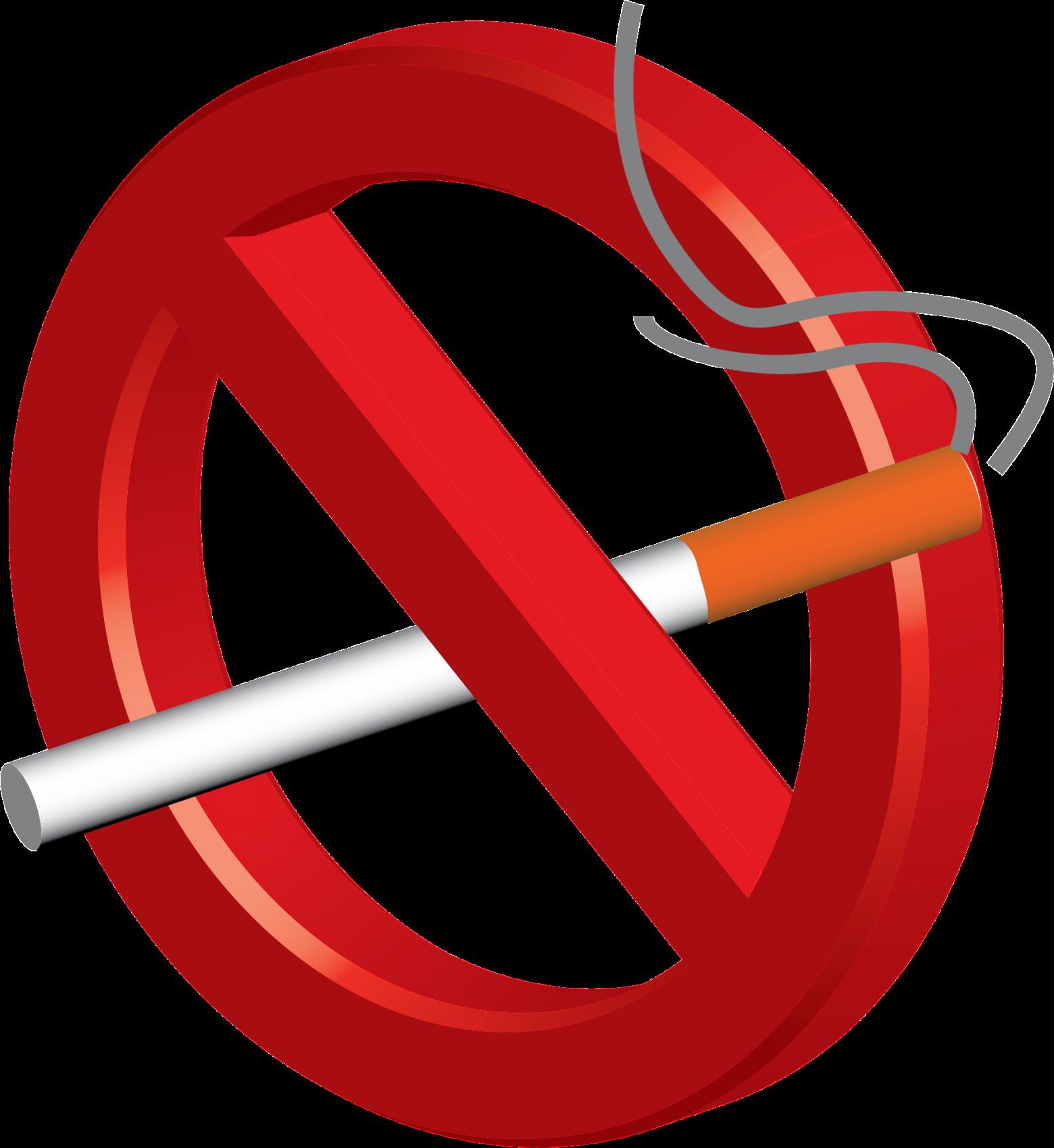 Clipart defense de fumer.