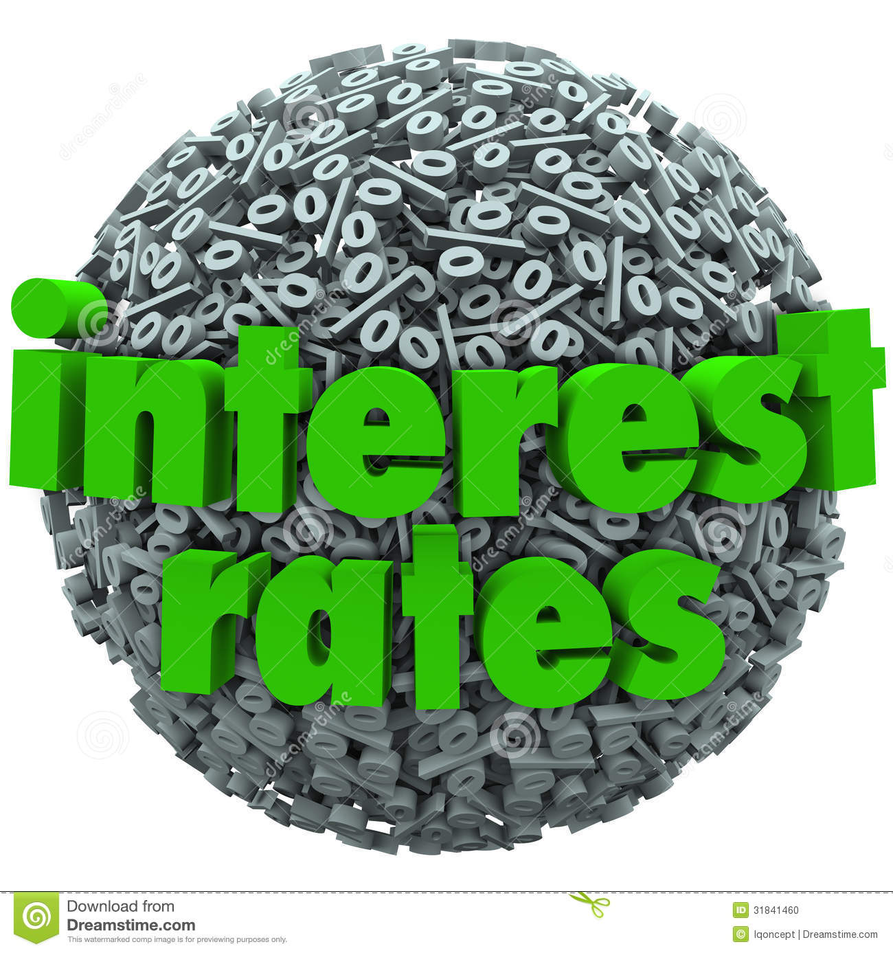 Interest rates clipart.
