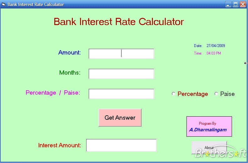 Interest Rate Calculator.