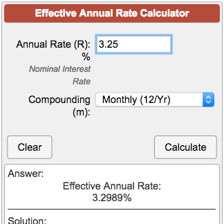 Effective Annual Rate (EAR) Calculator.
