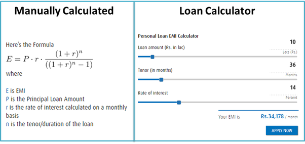 How to calculate the interest rate (R) if I know the EMI, tenure.