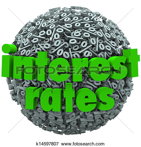 Picture of Interest Rates Percent Sign Symbol Sphere Mortgage Loan.