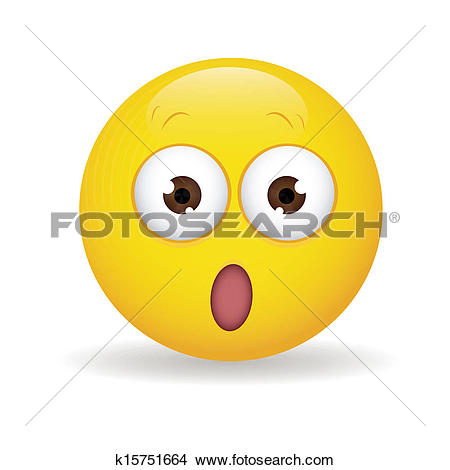 Clip Art of Surprised face k15751658.
