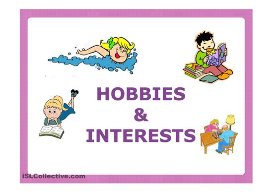 Interests and Hobbies Clip Art.