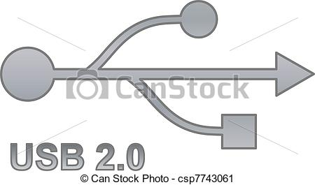 Vector Clip Art of Usb sign for interface electronic hardware.