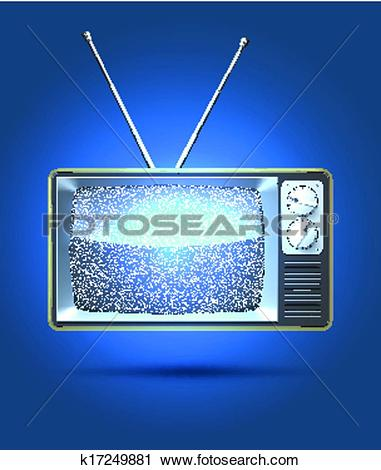 Clipart of TV interference k17249881.
