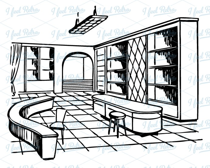 Interior design clipart.