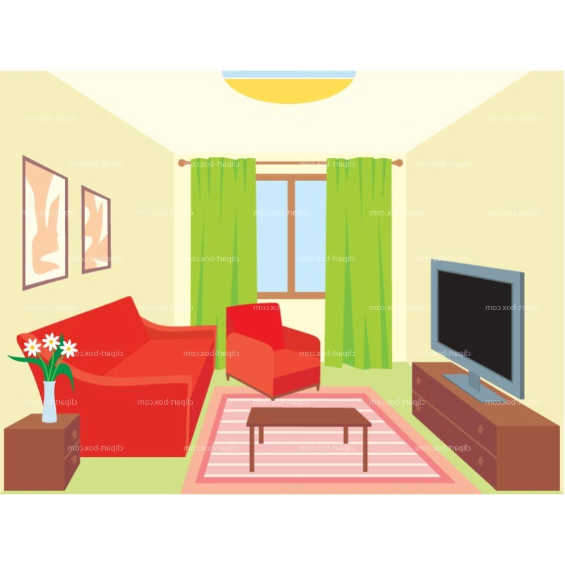 Interior Living Room Clip Art.